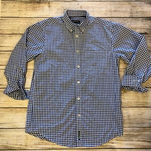 Orvis Heritage Wash Medium Blue Gingham Shirt L/S